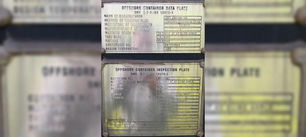DNVU 2004904 Data plate-